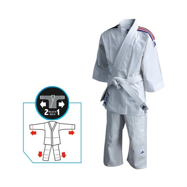kimono judo enfant evolutif adidas dany barbe. Black Bedroom Furniture Sets. Home Design Ideas
